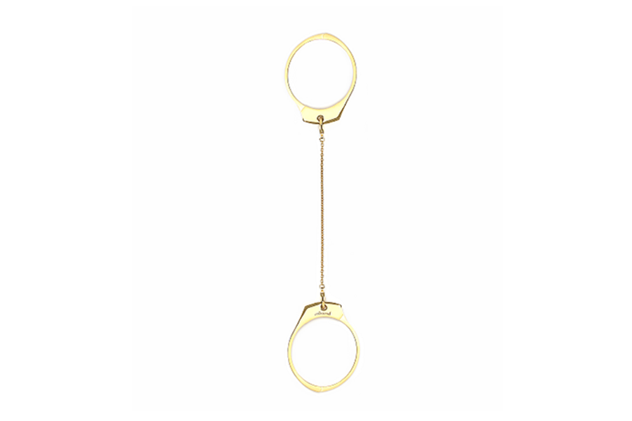 Simple Gold Handcuffs Bangle