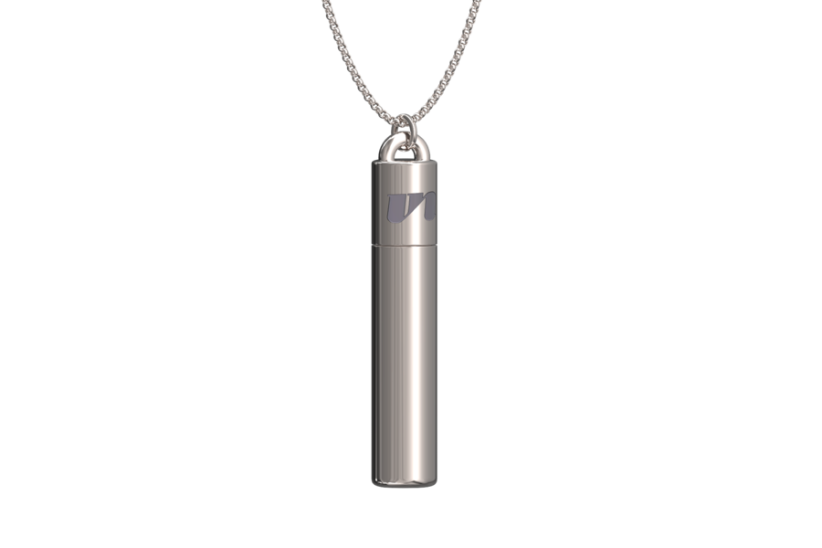 Silver Lube Vial Necklace