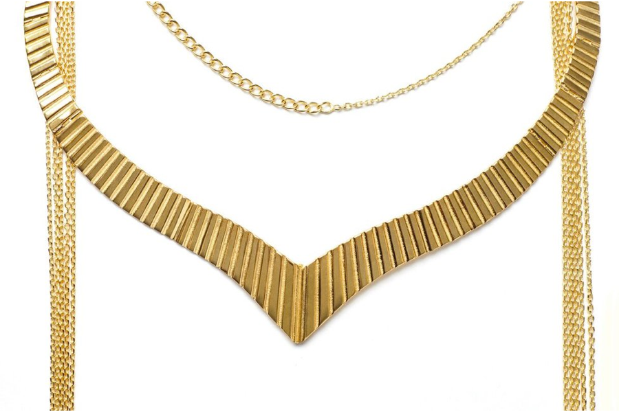 Cleo Golden Whip Necklace
