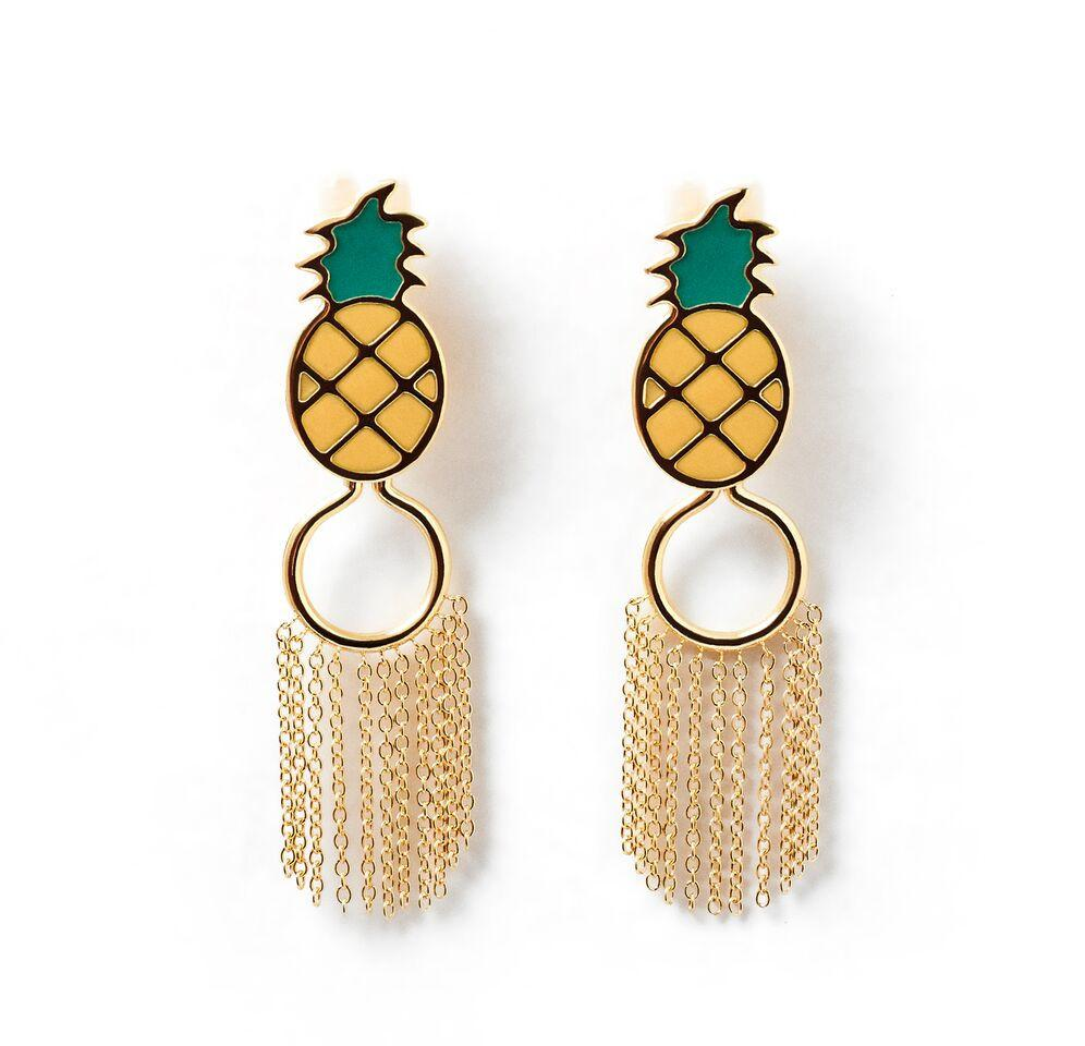 Pineapple Nipple Clamp Earrings
